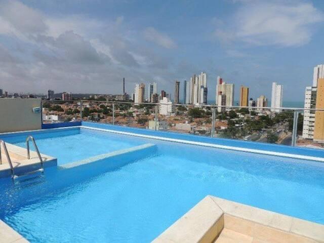 Flat com 2 quartos em Ponta Negra, Natal, RN