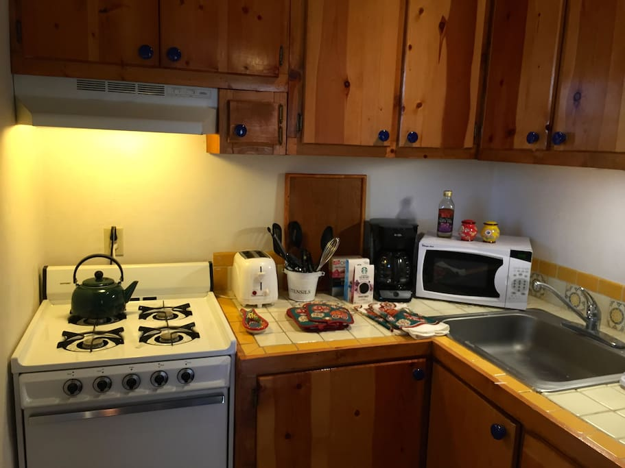 Fully equipped kitchen for all your cooking and dining needs.