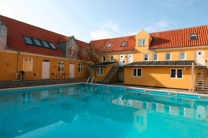 Modern Apartment in Gudhjem with a Swimming Pool