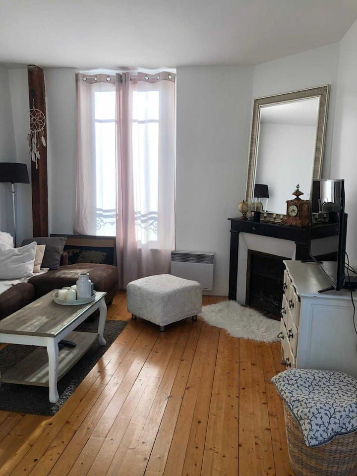 Appartement lumineux F2 style cocooning