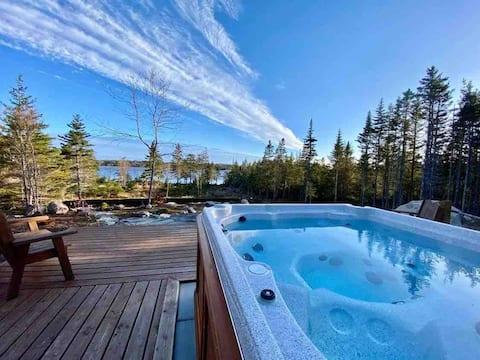 Luxurious Lake Cottage Bear- Outdoor Hot Tub/Sauna