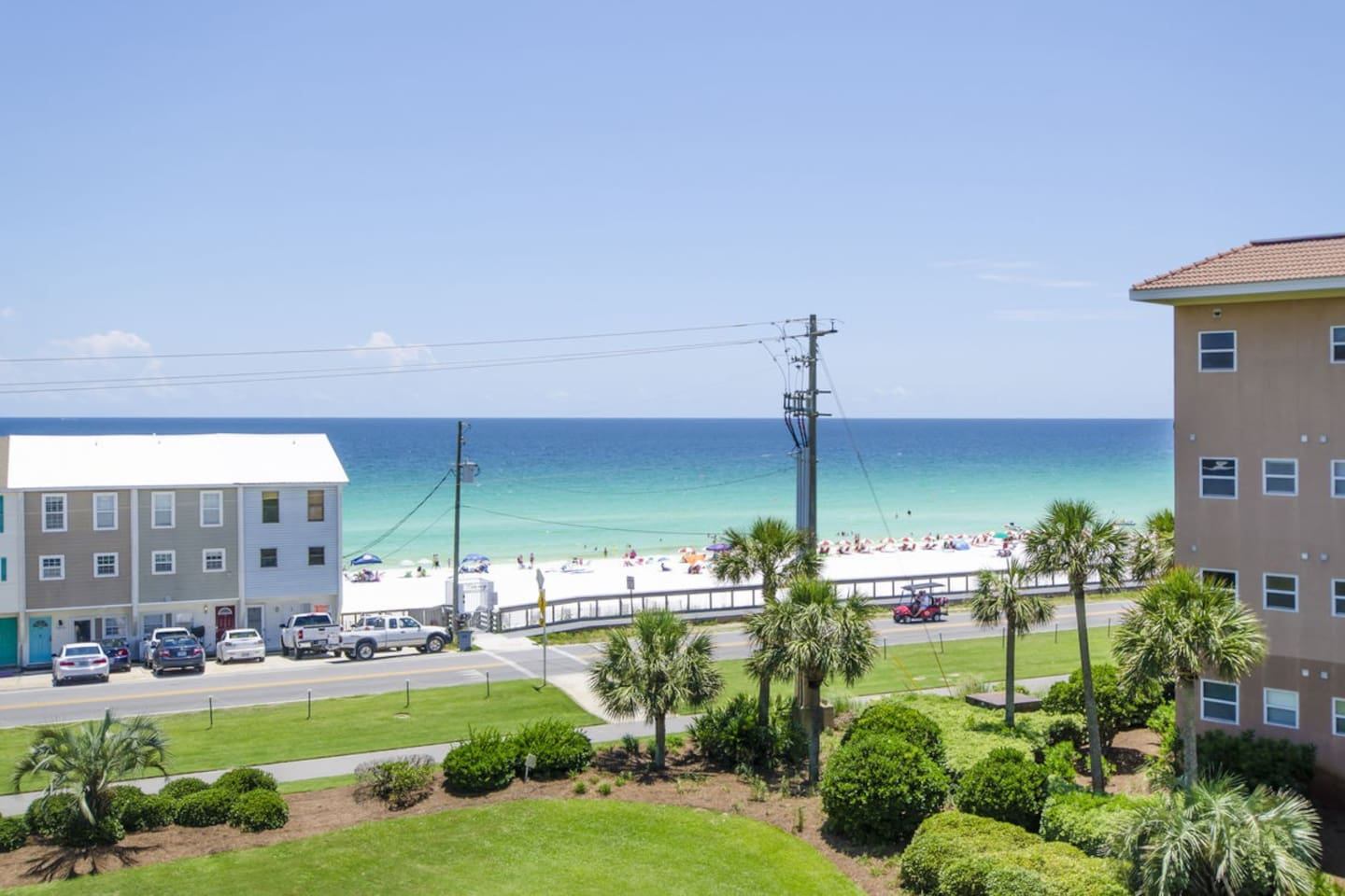 See the Emerald Coast that awaits you right outside the living and master bedroom.