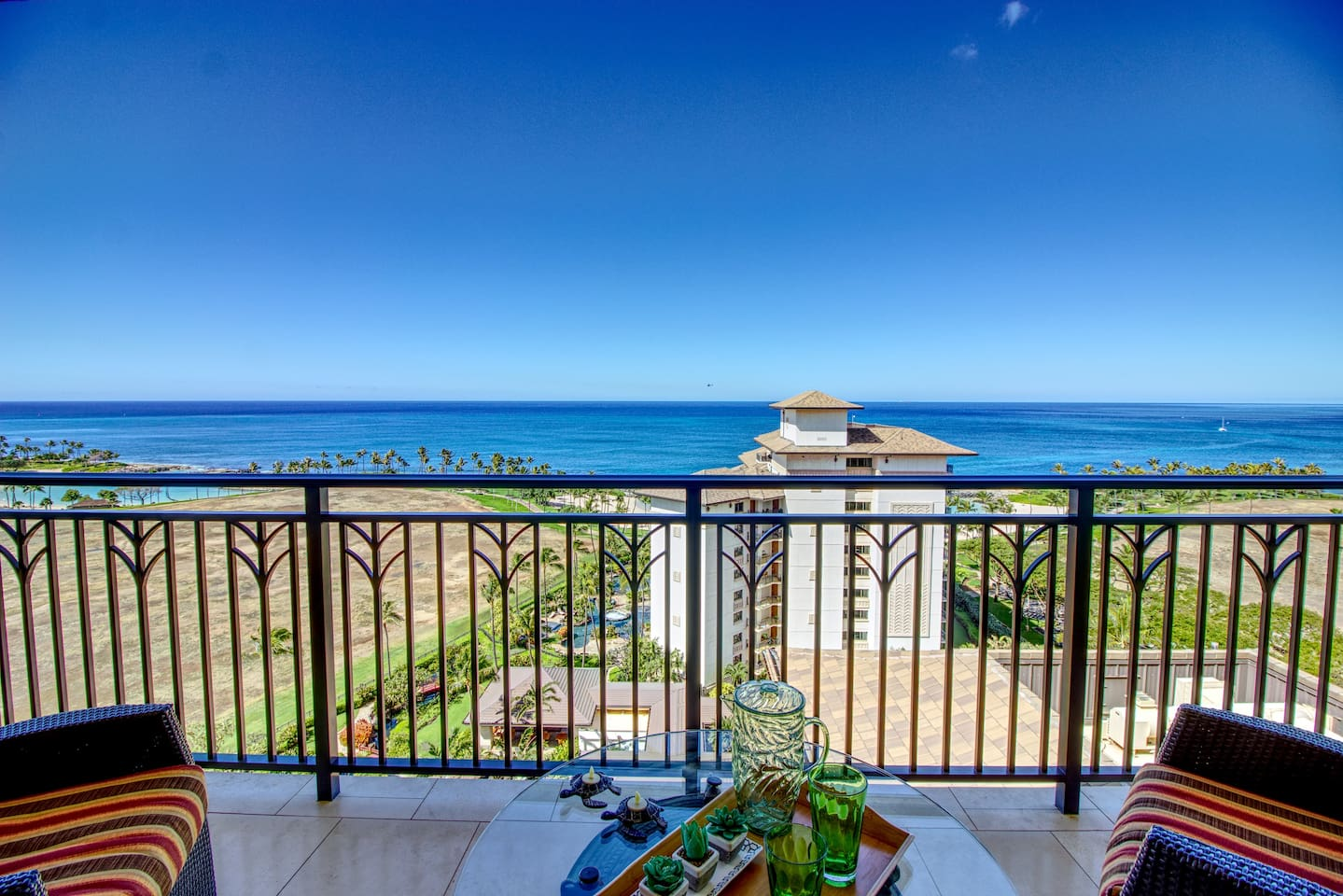 180 degree panoramic view of the Pacific Ocean from the lanai