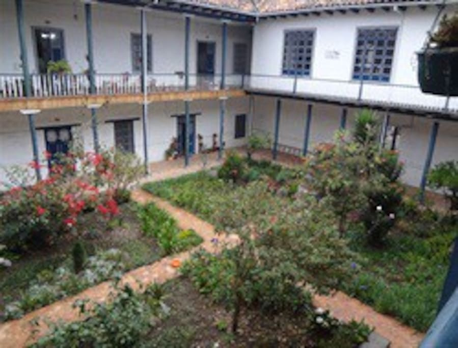 The view to the courtyard from the balcony