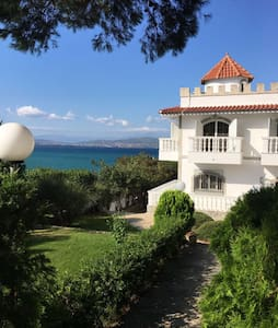 Panoramic view Luxury Villa by the Sea in Avlida