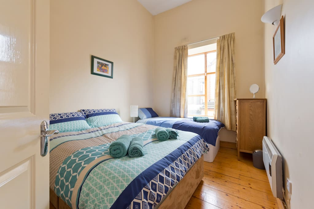 Bedroom One: Double and Single Bed