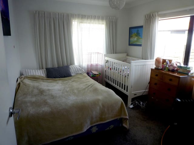 Second bedroom - Double bed and single (cot will be removed)