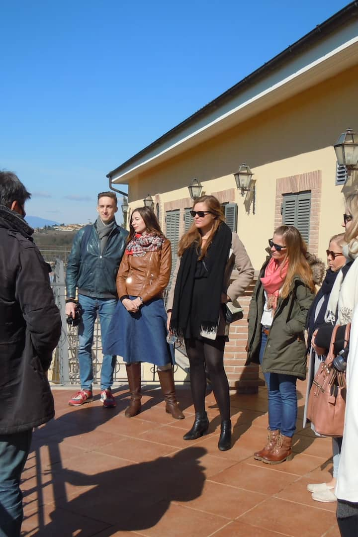 Your tour begins on the winery terrace
