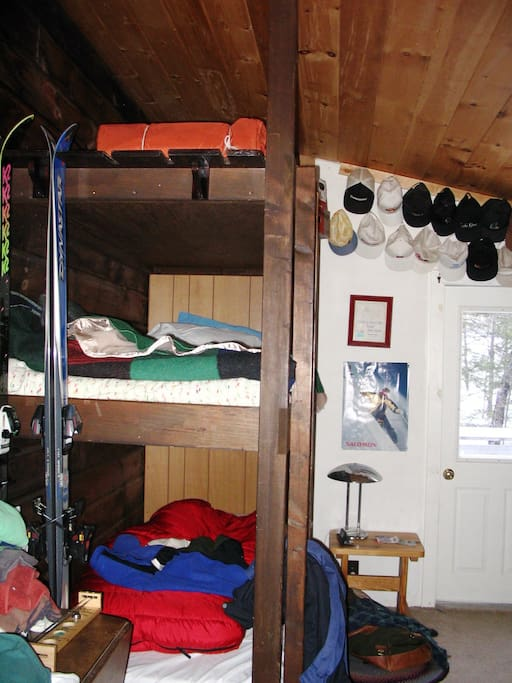 Bunkroom:  Bunks are three-high