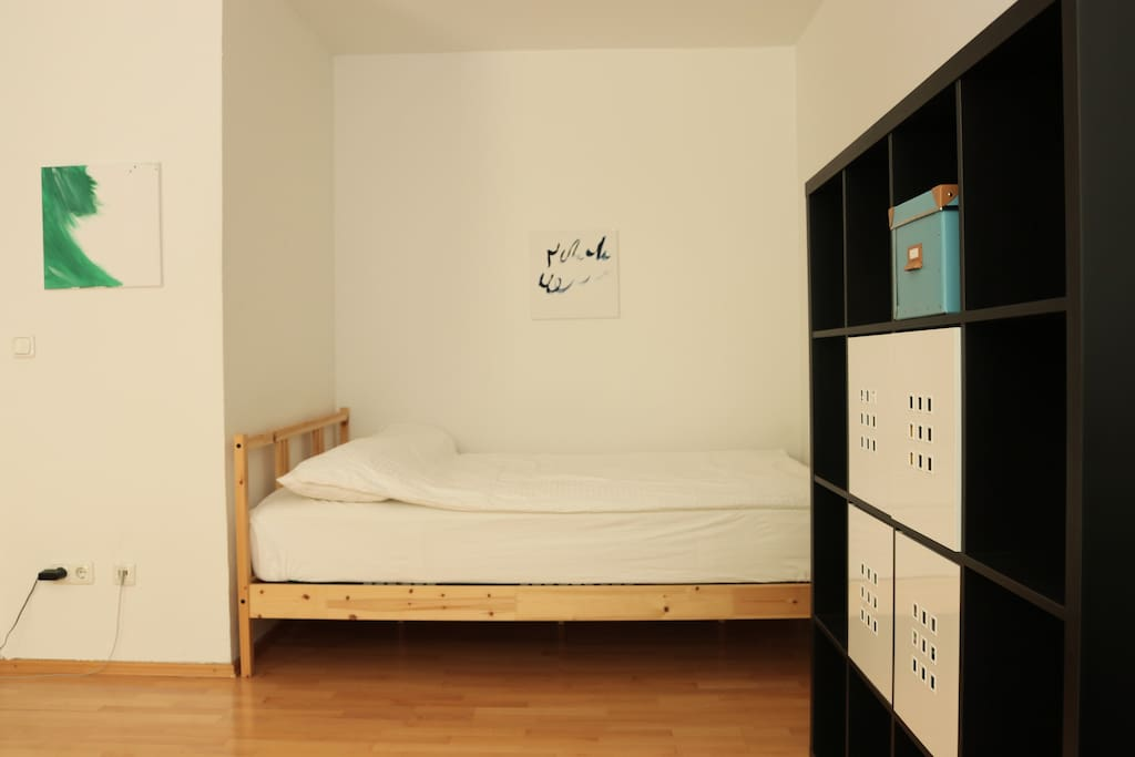 Sleeping nook with queen sized bed (fits two people)