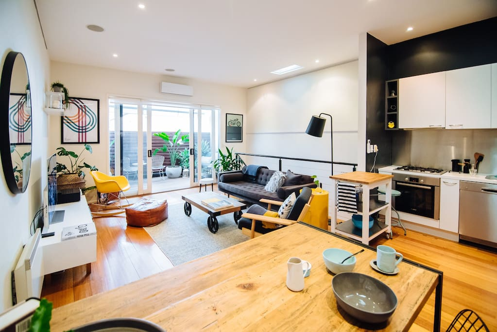 Open plan living and kitchen area allows for flowing conversation