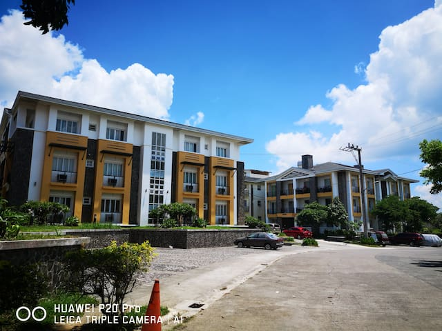 A staycation condo in an exclusive subdivision