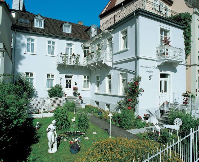 Aussenansicht Apartmenthotel New Angela
