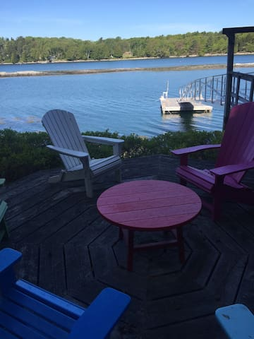 Deck down by the water