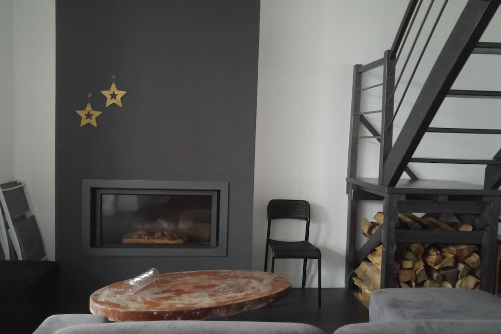 Ground floor : fire place