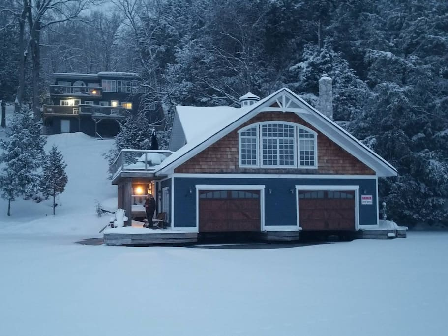 Beautiful in both summer and winter! (Great for snowmobiling- check out SWS Marina they even rent snowmobiles & deliver).