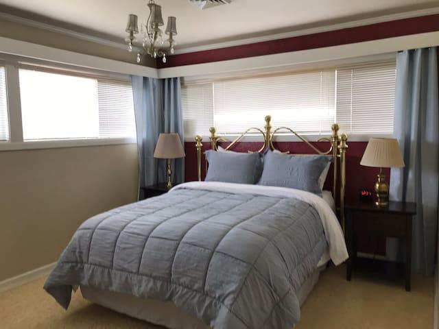 Queen's size sleep number bed, adjust to your comfort.