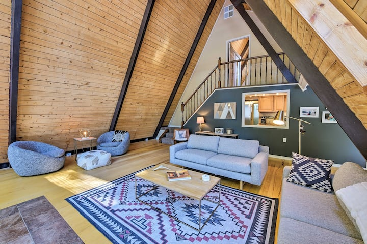 NEW! A-Frame Cabin Mountain Hideaway in Leadville!