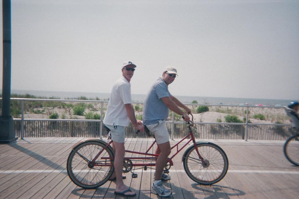 We have both tandem and cruisers available on loan for taking to the boardwalk, around town, the bay and the beach. Park your car when you get here and forget about it!