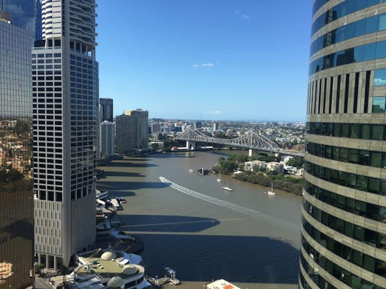 Balcony view of the Brisbane river