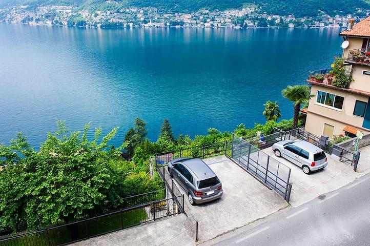 LETIZIA'S HOME ❤️❤️ PRIVATE PARKING, SUPER VIEW! - Pognana Lario - Lägenhet