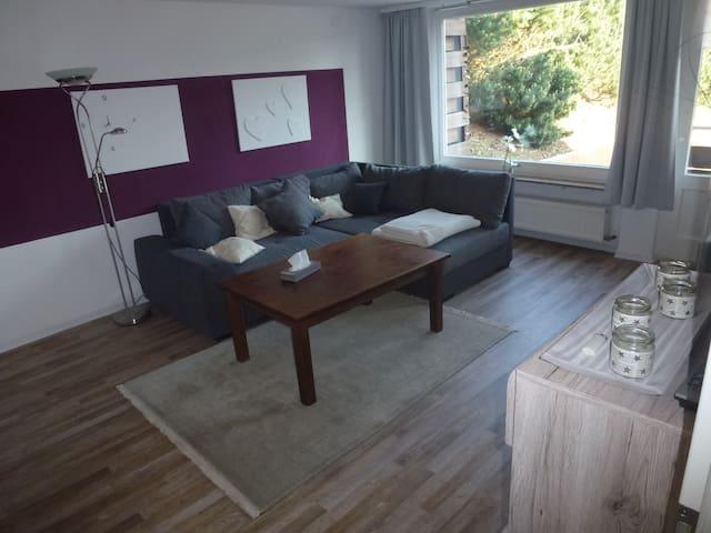 Wohnzimmer - Couch mit Schlaffunktion ca 160 x 200 cm Schlaffläche