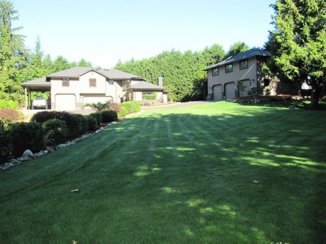 Private setting on a secluded lot at end of a private road. Apartment  is in the building on right,  upper floor, completely separate private space.