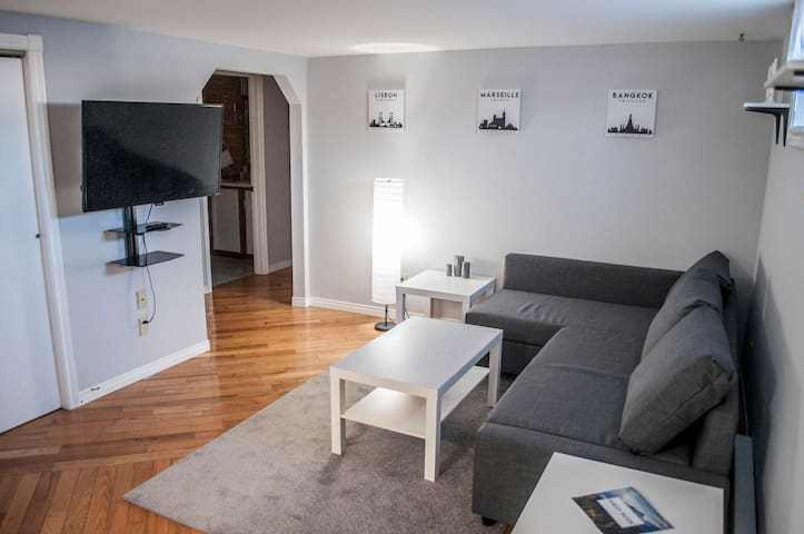 Private Basement Apartment with a King Size Bed