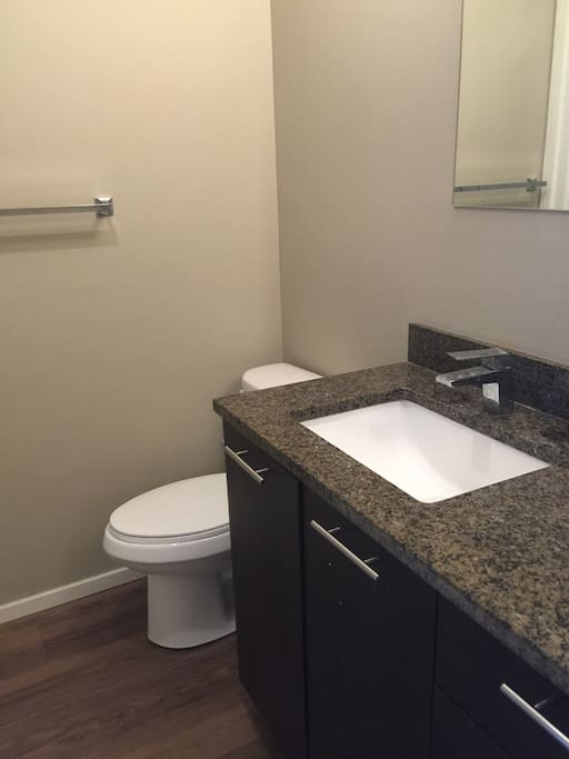 Your own bathroom with granite counter top