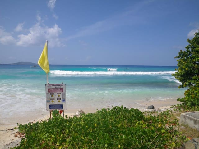 Apple Bay beach... 7 minute walk from your room.