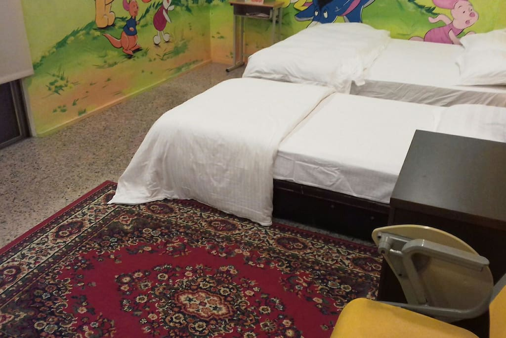 double and single bed 700 cash /night