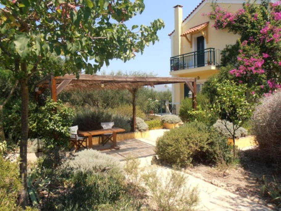 Villa With Stunning Views Next To An Olive Grove Casas De Campo En Alquiler En Kouvalata