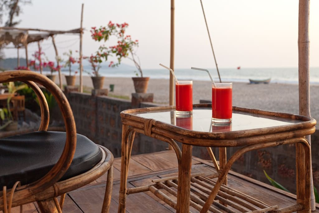 Sunset view from veranda. Your own romantic destination