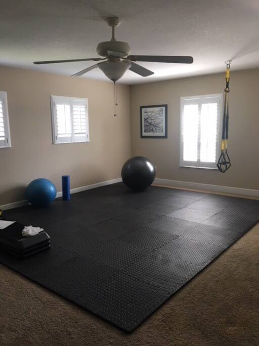 Exercise area in home