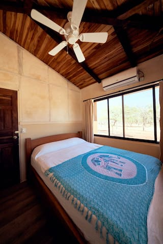 All the 3 new bedrooms are similar with A/C and fans in every bedrooms. Plus an amazing view on our organic farm