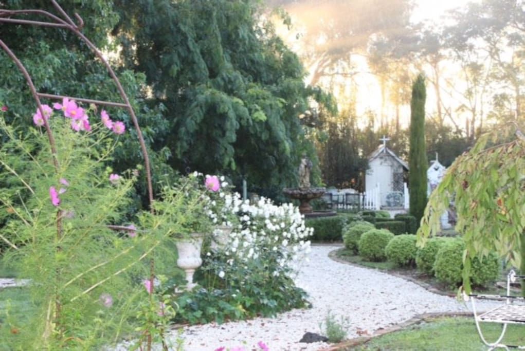 Our gardens in summertime.
