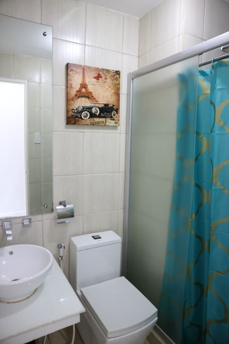 We keep the bathroom clutter free so you can make it your temporarily yours!