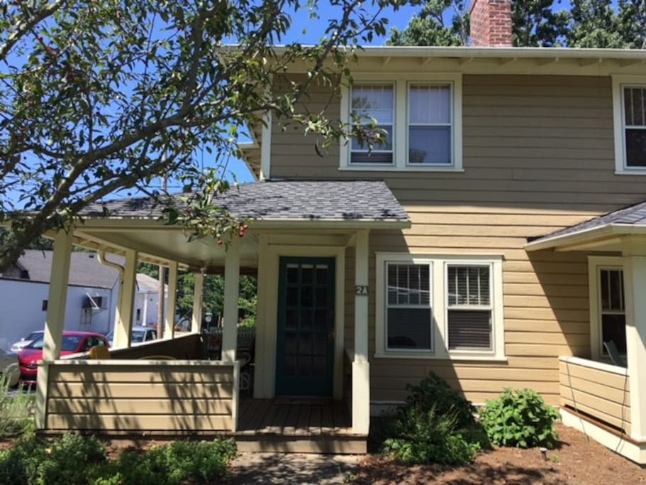 The house is close to downtown in a friendly, walk-able neighborhood with nearby restaurants, public tennis courts, and a park.