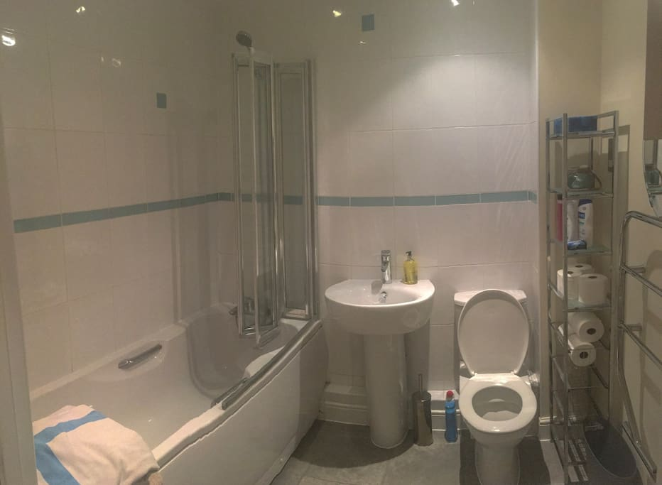 Private bathroom, towels and basics provided