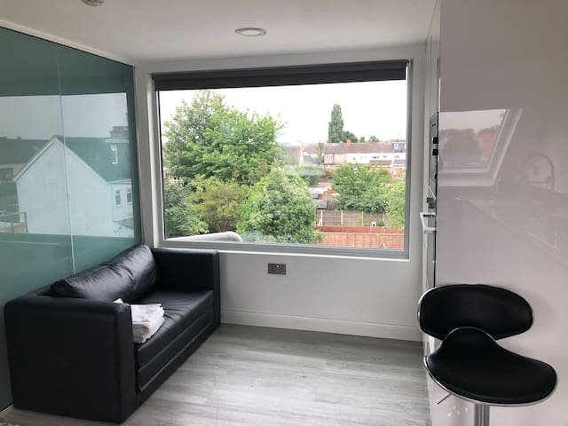 Luxury Studio Apartment 4 Mins From central line
