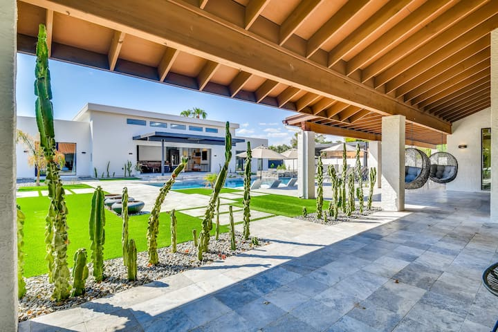 An acre lot, it is both spacious and elegant