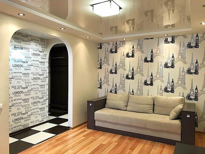 Стильная и комфортная двухкомнатная квартира