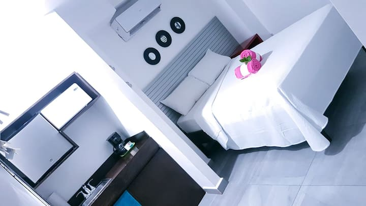 Cancun boutique bedroom gray