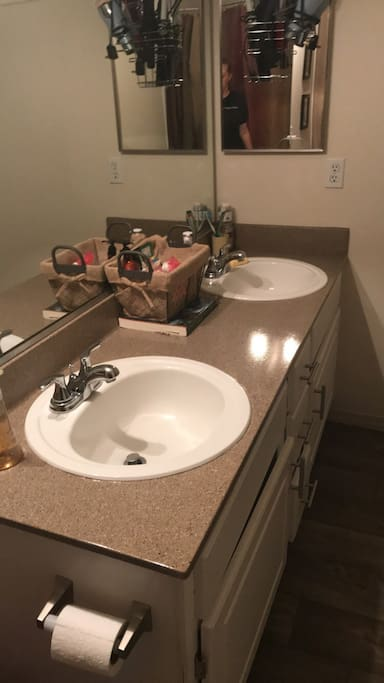 Master bath double sinks