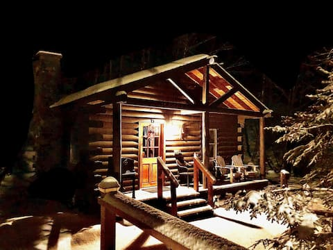 "Rustic Log Cabin #6 - ""Fireside"""