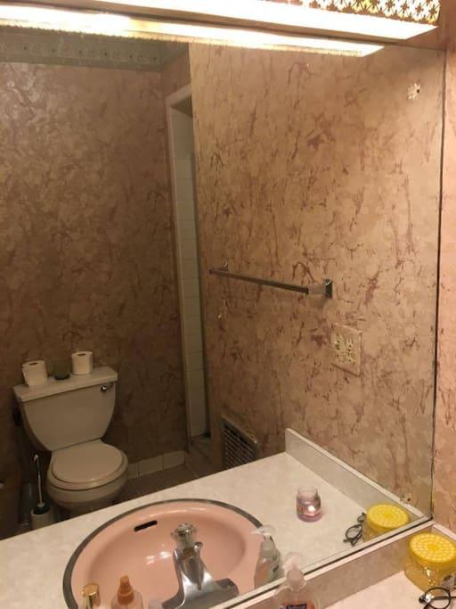 Bathroom is shared