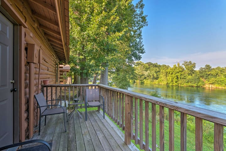 NEW! Riverfront Fishing Cabin in Heber Springs!