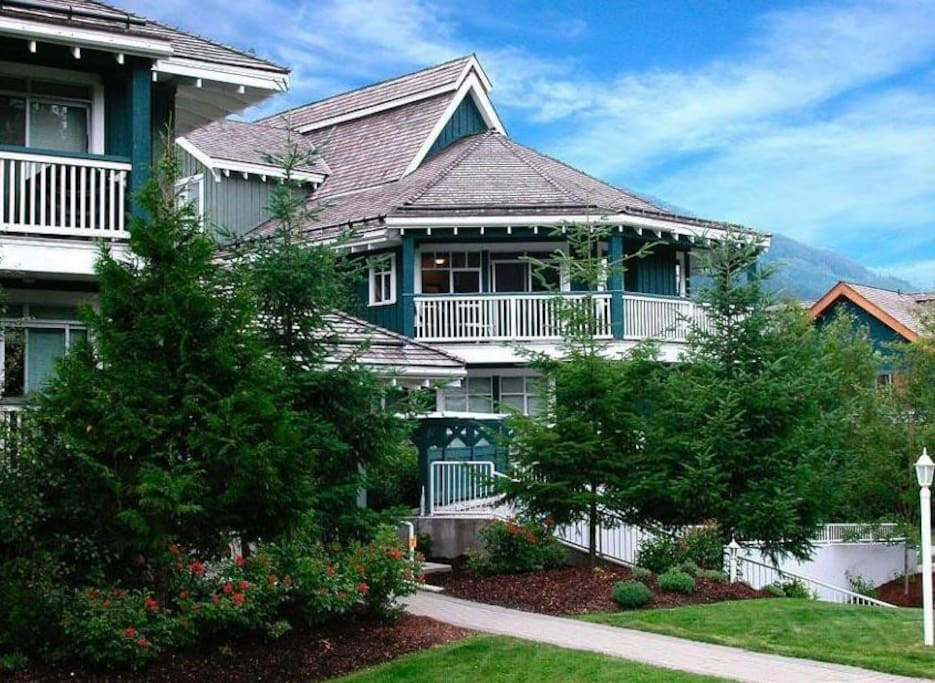 Our property is the one with the large balcony!