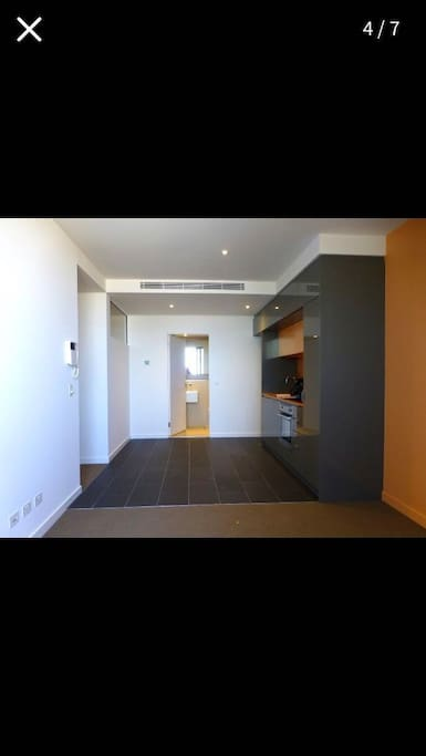 Shared space, inner the apartment are toilet, kitchen, living room and balcony