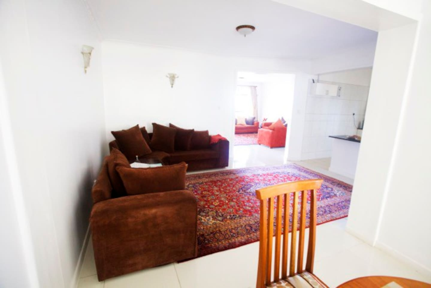 Spacious open plan setting with two living rooms